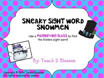Sneaky Sight Word Snowmen