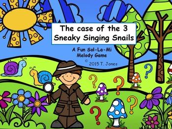 Sneaky Singing Snails: Sol-La-Mi Set