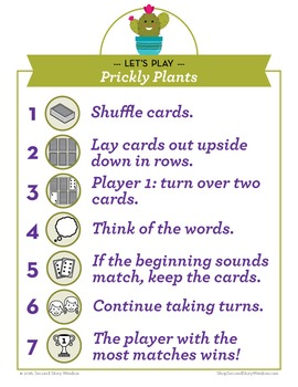 Prickly Plants Phonics Game L Blends and R Blends Game - Words Their Way Game