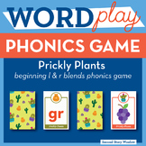 Prickly Plants Beginning L and R Blends Phonics Game