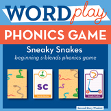 Sneaky Snakes Beginning S-Blends Phonics Game - Words Thei