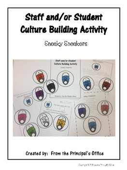 Sneaky Sneaker:  Student/Staff Morale Building Activity