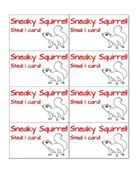 Sneaky Squirrel!  A CVC Word Reading Game