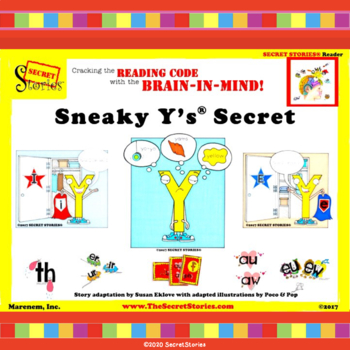 """Sneaky Y®'s Secret!"" w/ Guided Reading Puppet Craft for 3 Sounds of Y"
