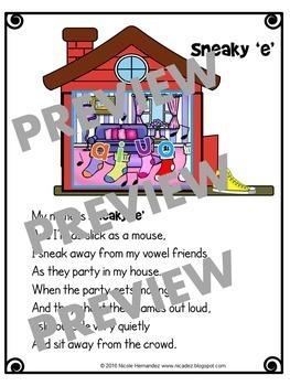 Sneaky e / Silent e / Split Digraphs Poem