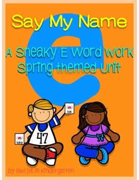 Sneaky e:  A CVCe Word Pack