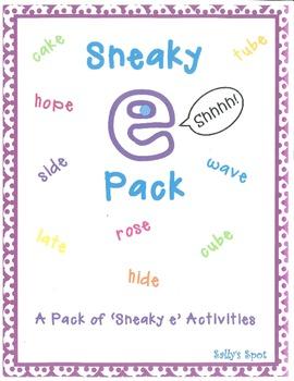 Sneaky e Activities - A Pack of 'Sneaky e' Activities (Silent e - cvce)