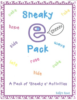 Sneaky e Activities - A Pack of 'Sneaky e' Activities (Sil