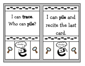 """Sneaky """"e"""" """"I can, who can?"""" Game (Black and White Copy)"""