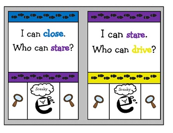 "Sneaky ""e""  ""I can, who can?"" Game (Colored Copy)"