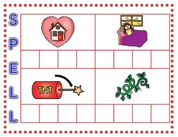 'Sneaky e' Segmenting Cards