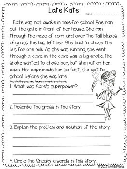 NO PREP Sneaky E Comprehension Stories and Word Work BUNDLE