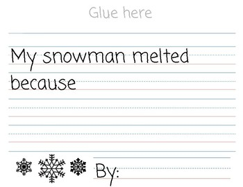 Sneezy The Snowman Melted Project