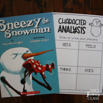 Sneezy the Snowman | Book Study and Craftivity