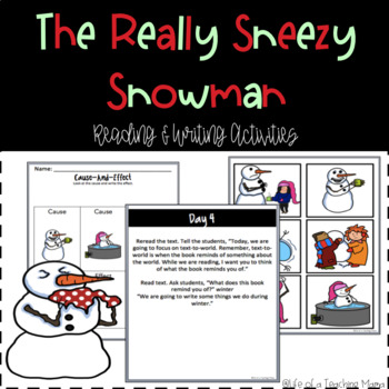 Sneezy the Snowman Lessons and Activities!