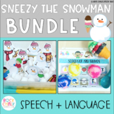 Sneezy the Snowman Articulation and Language Bundle for Speech Therapy