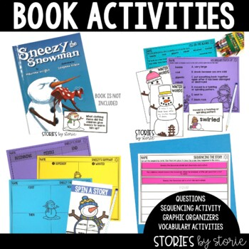 Sneezy the Snowman (Book Questions, Vocabulary, & Snowman Craft)