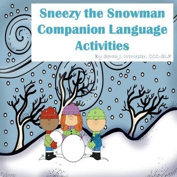 Sneezy the Snowman Companion  Activities