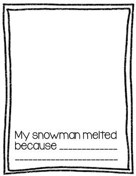 Sneezy the Snowman: Craftivity