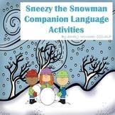 Sneezy the Snowman Verb Tense Activity Freebie