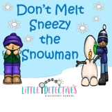 Sneezy the Snowman Letter S Language Game Board