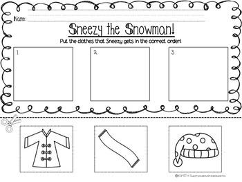 Sneezy the Snowman! Literacy Activities