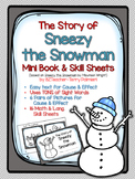 Sneezy the Snowman PRINT & GO mini book and skill sheets
