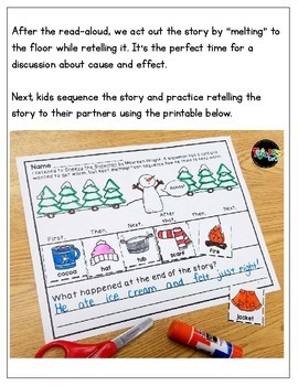 Sneezy the Snowman: Retelling and Sequencing Mini-pack