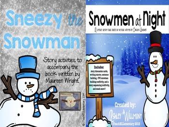 Sneezy the Snowman & Snowmen at Night {Story Activity BUNDLE}