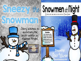 Sneezy the Snowman & Snowmen at Night {Story Activity BUNDLE}