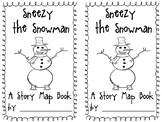 Sneezy the Snowman Story Map Minibook