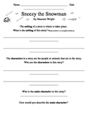 Sneezy the Snowman response page