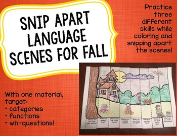 Snip Apart Language Scenes for Fall