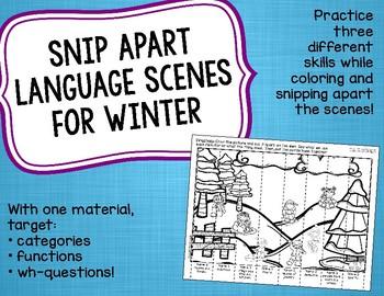 Snip Apart Language Scenes for Winter