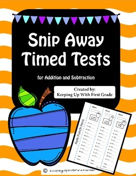 Snip Away Timed Tests: Addition and Subtraction
