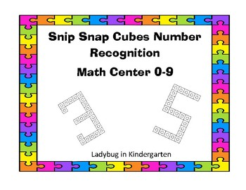 Snip Snap Cubes Math Center