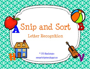 Snip and Sort Letter Recognition