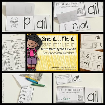 **Snip it .. Flip it: 38 Word Family Flip Books for Successful Reader