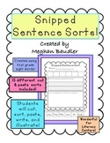 Cut and Glue Sentences with Sight Words