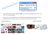 Snipping Tool for Capturing Screen Shots