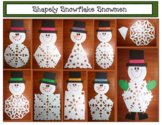 """Snowflake Snowman Craft: """"Snippy"""" The 2D Shaped Snowflake Snowman"""