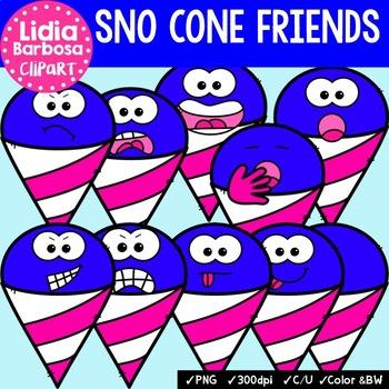 38 Sno Cone Friends- Digital Clipart