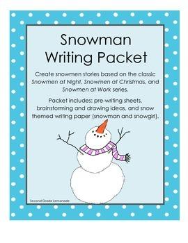 Snoman/Snowgirl Creative Writing Packet