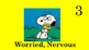 Snoopy 5 point emotion scale