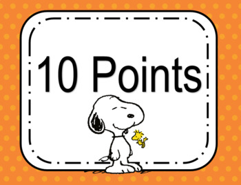 Snoopy AR Clip Chart with Points