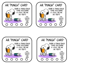 Snoopy AR Punch Cards