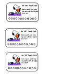 Snoopy Accelerated  Reader Punch Card