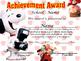 Snoopy Achievement Award Spanish & English version .Complete Editable!!!