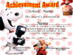Snoopy Achievement Award Spanish & English version .Comple