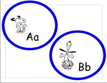 Snoopy Alphabet